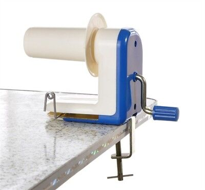 Blue Hand Operated Winder Knitting Yarn Fiber Wool String Ball Skein Machine UK