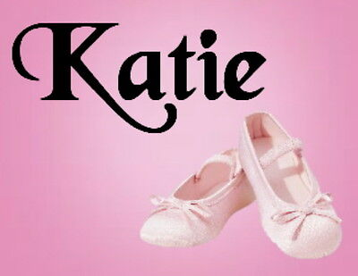 Personalised Keyring / Bag ID  -  Ballet Shoes  Design