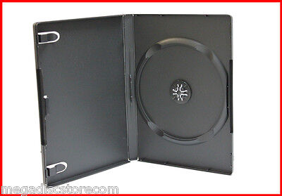 New 30 Pk 14mm Black Single DVD Storage Case Premium Machinable Box Hold 1 Disc