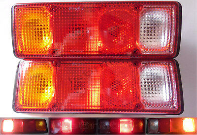 Pair Rear Tail Lights Stop Lamp 75-85 Reliant Scimitar GTE NEW