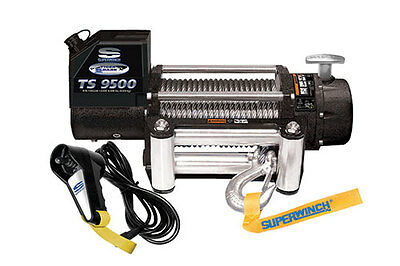 Superwinch Tiger Shark Winch 9500lbs with Fairlead, Steel Rope & Remote 1595200