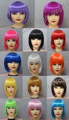 14 Color Ladies Fashionable BOB style Short Party Fancy Cosplay Wigs