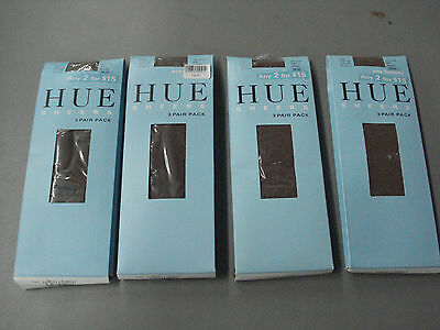 NWT Women's Hue Sheer Knee Highs  Size 1 Cocoa 12 Pair #607B
