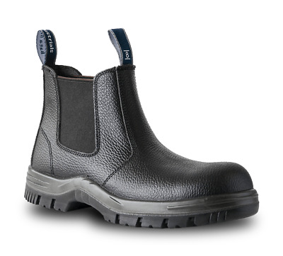New Blundstone Black Leather Safety Steel Cap Toe Slip On Work Boots 330