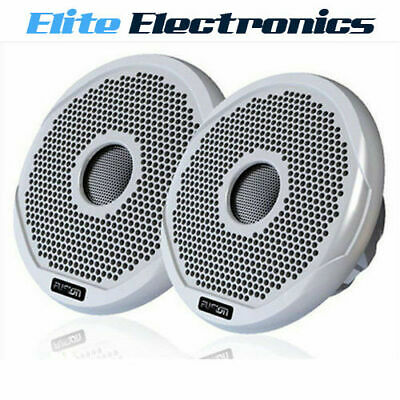 "Fusion Ms-Fr7021 Marine 7"" 2-Way 260W Speakers Boat Audio White & Black Grilles"