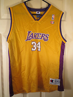 Los Angeles Lakers Shaquille O Neal Jersey Champion Youth XL 18-20 VINTAGE  NBA eefdebe38