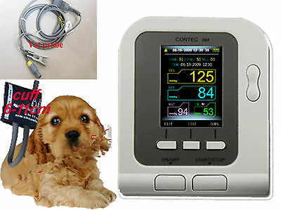 Hot,New 08A VET,Veterinary USE Digital Blood Pressure Monitor with SPO2 Sensor