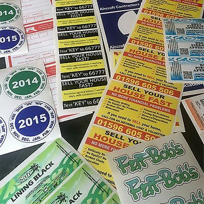 Custom Printed Vinyl Stickers  Trade and Business  Bulk label printing service