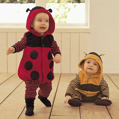 Baby Boy Girl Ladybug/Bee Christmas Fancy Dress Party Costume Outfit Cloth 6-24M