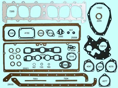 Chevy Master 207 Stovebolt Full Engine Gasket Set BEST 1934-Early 35 COPPER Head