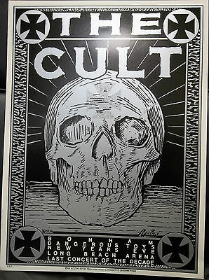 The Cult Original Concert Poster Long Beach Arena New Years Eve 1989