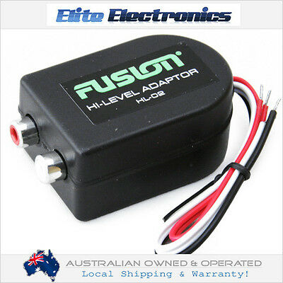 FUSION HL-02 HIGH TO LOW LEVEL CONVERTER 2-CHANNEL STEREO TO AMPLIFIER CAR AUDIO