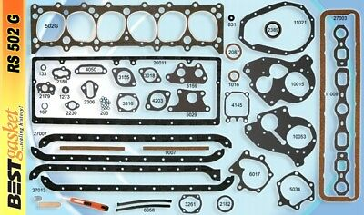 Chevy 216 235 Full Engine Gasket Set BEST 1937-53* Head+Manifold+Valve Cover