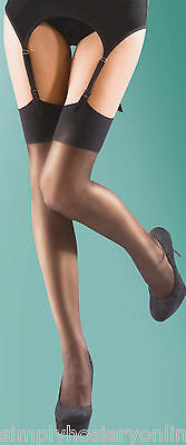Super Shine Gloss Stockings Silky One size Plain welt top 15 Denier High Shine