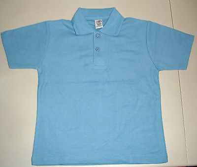 NEW unisex School Uniform Polo Shirt Blue size 5 to 16