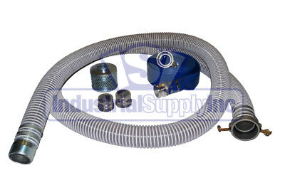 "4"" Complete Trash Pump Water Suction Discharge Hose Kit"