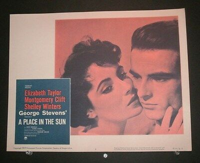 A Place In The Sun - 1959 Rerelease Elizabeth Taylor Montgomery Clift