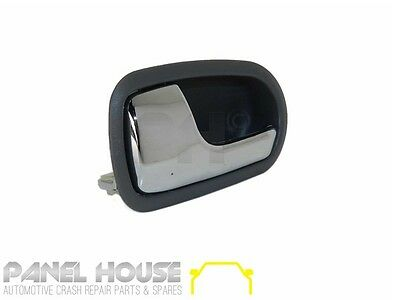 Mazda 323 BJ Astina 98-03 Left FRONT Interior Chrome Grey Door Handle Inner NEW