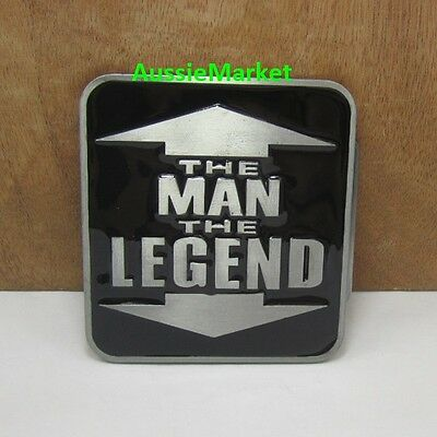 1 x mens belt buckle the man the legend quality metal alloy jeans brand black