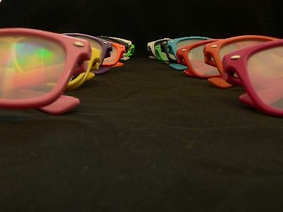 Rainbow Diffraction Vision Glasses Kaleidoscope Prism Rave Accessories EDC