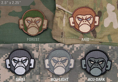 Mil-Spec Monkey Velcro Morale Patch Monkey Head Logo Multicam Desert SWAT