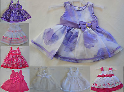 NEW Baby Girl Dress White, Purple Hot Pink Flower Set Size 0000,000,00,0,1,2
