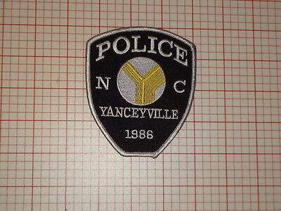 Yanceyville North Carolina Police Patch