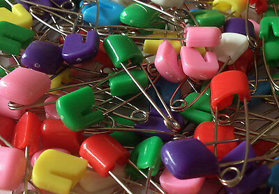 Mixed Coloured Baby Nappy Diaper Cloth Pins 40Mm Safety Pins Nappies Craft Clips