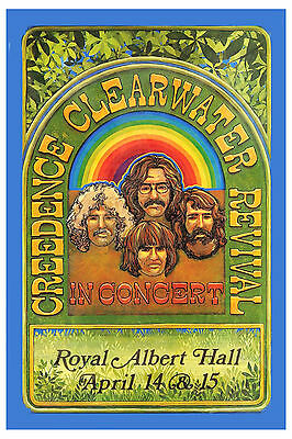 1970's Rock: Creedence Clearwater at Royal Albert Hall UK Concert Poster 1970
