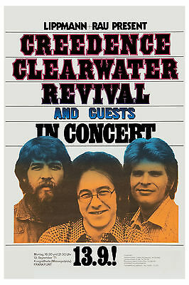 1970's Rock: Creedence Clearwater Revival  at Germany Concert Poster 1971