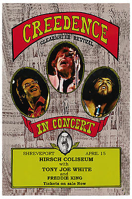 1970's Rock: Creedence Clearwater Revival  at Shreveport LA. Concert Poster 1972