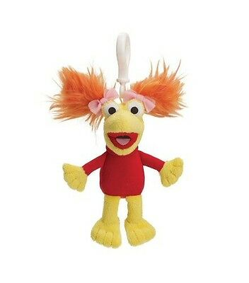"Fraggle Rock Red Backpack Plush Clip 4""  Brand New 30 Year Anniversary"