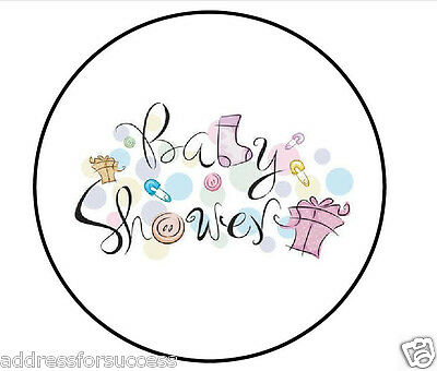 "Baby Shower 1"" Round Envelope Seals Custom Labels"
