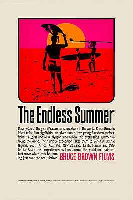 Surf Classic:  * ENDLESS SUMMER *  Movie Poster 1966