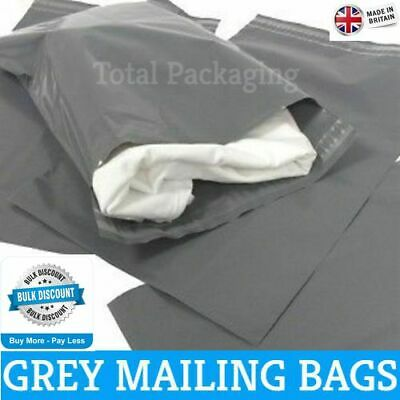 100 x Mixed Strong Grey Mail Mailing Poly Plastic  Postal Cheap  Bags MED PACK