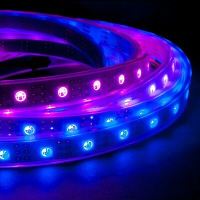 1m 60 LED/m RGB LED Light Strip 5V WS2811 (WS2801) Waterproof Addressable Color