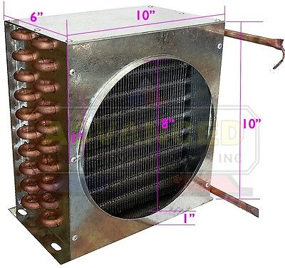 "New LEADER Condenser Coil for Commercial Coolers & Freezers 10""x10""x6"""