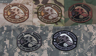 Mil-Spec Monkey Velcro Morale Patch Honey Badger Multicam MTP UK ARMY