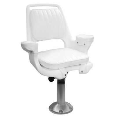 """15"""" Fixed Height Fishing Boat Captains Pilot Chair Seat Base and Pedestal"""