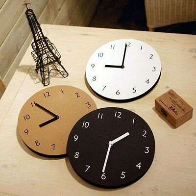 Modern Wall Decor Clock Paper Creating a Feeling of Warmth Sandwich-like 3 color