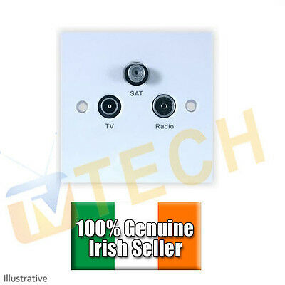 Wall Plate Combiner Diplexer for Satellite Terrestrial Saorview Free To Air