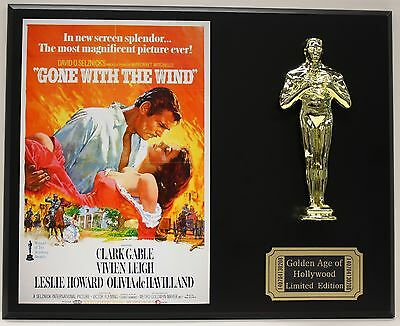GONE WITH THE WIND, CLARK GABLE OSCAR MOVIE DISPLAY FREE U.S. SHIPPING