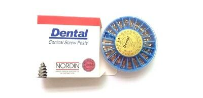 120 pcs Dental Screw Post  Authentic Complete Kit ( Gold ) Keys included U.S.A