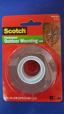 3M Scotch 4607 Permanent Outdoor Mounting Double Sided Tape Holds upto 5 lbs