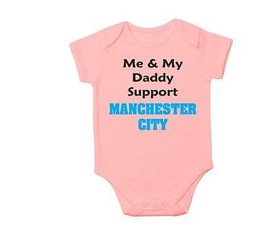 Me & My Daddy Support Manchester City Baby Vest