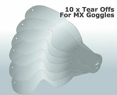 MX Goggles Tear Offs Replacement Packs