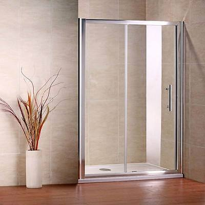 1500x1850mm Shower Enclosure Sliding Walk In Glass Door Bathroom Cubicle Screen