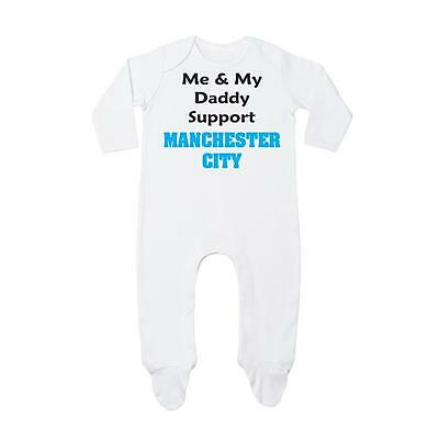 Me & My Daddy Support Manchester City Rompersuit