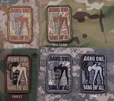 Mil-Spec Monkey Velcro Morale Patch Bang One Bang Em' All Multicam MTP - Small
