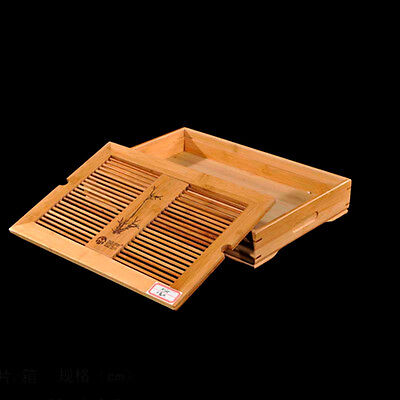 Removeable Bamboo Water Table Basin Gongfu Tea Table Serving Tray TP078 S